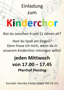 Einladung zum Kinderchor